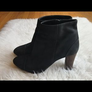 Cole Haan Black Nubuck Leather Boots  Size 9.5